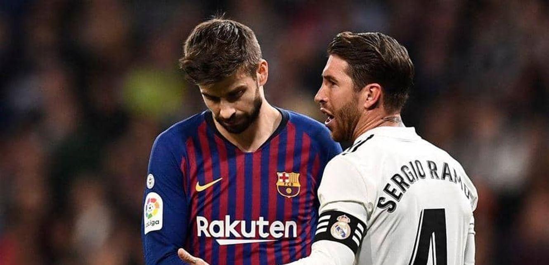 """بعد خسارة برشلونة أمام الريال.. """"كلاسيكو بيكيه وراموس"""" يشتعل"""
